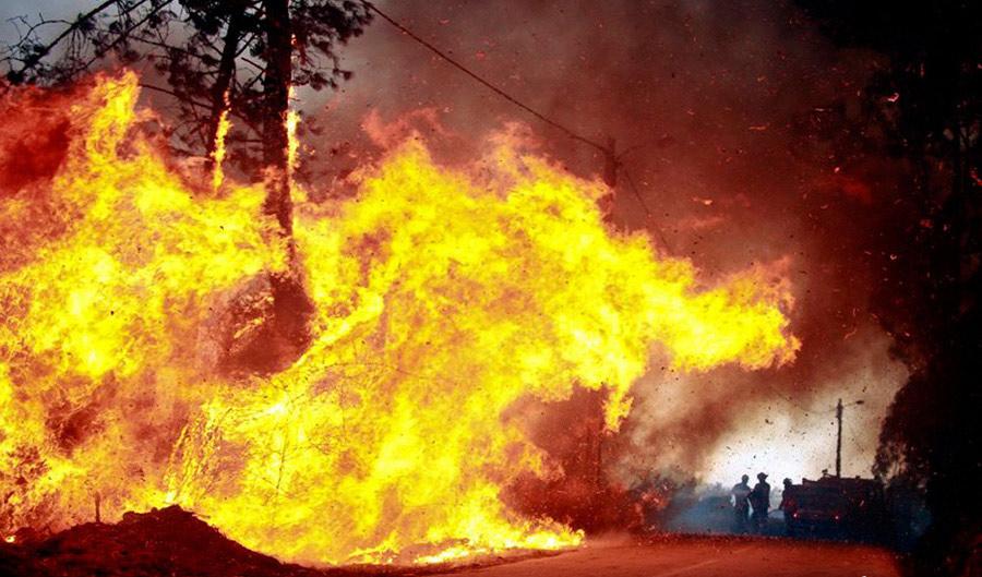 消防员森林灭火简笔画分享展示