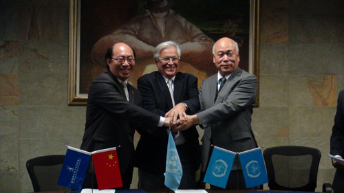 合肥国际职校与联合国人居署签署v国际备忘录-高中分数线北京2015年图片