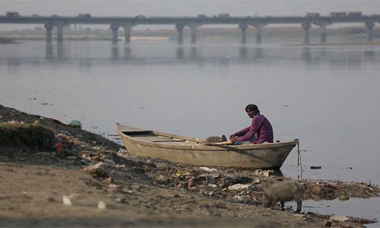 过去五年以来,印度受污染的河流数量增加了逾一倍