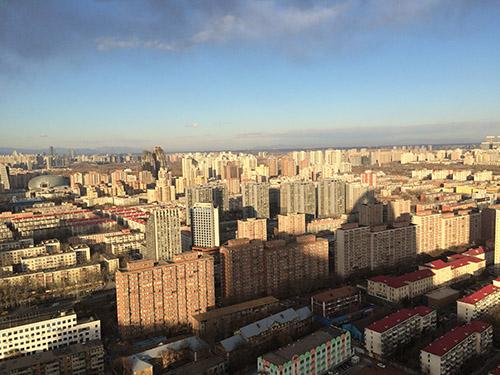 图为12月15日下午,北京市CBD俯瞰。