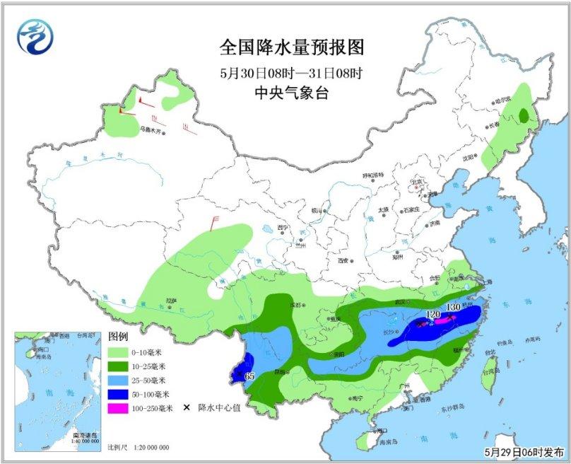 贵州江南等地将有较强降水 东北地区有阵雨或雷阵雨