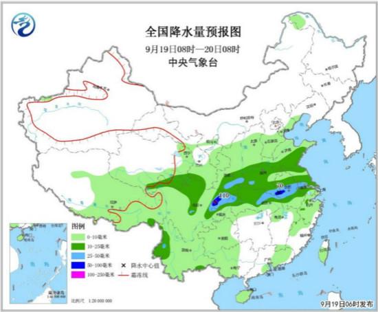四川东部至黄淮江淮有较明显降雨 北方地区有降雨降温