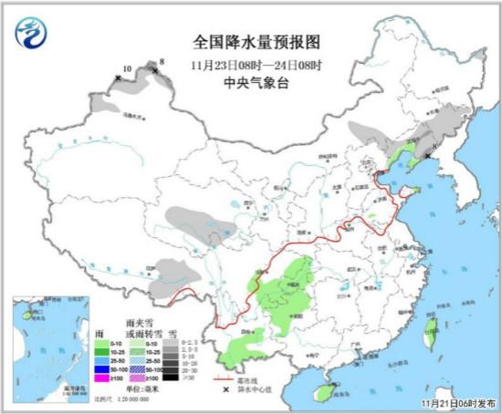 江南华南等地有小到中雨 弱冷空气影响中东部