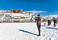 拉萨迎来今冬初雪
