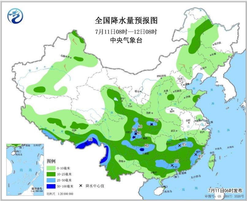 12日起南方将迎来强降雨华北黄淮东北地区多雷阵雨天气--土木资料网