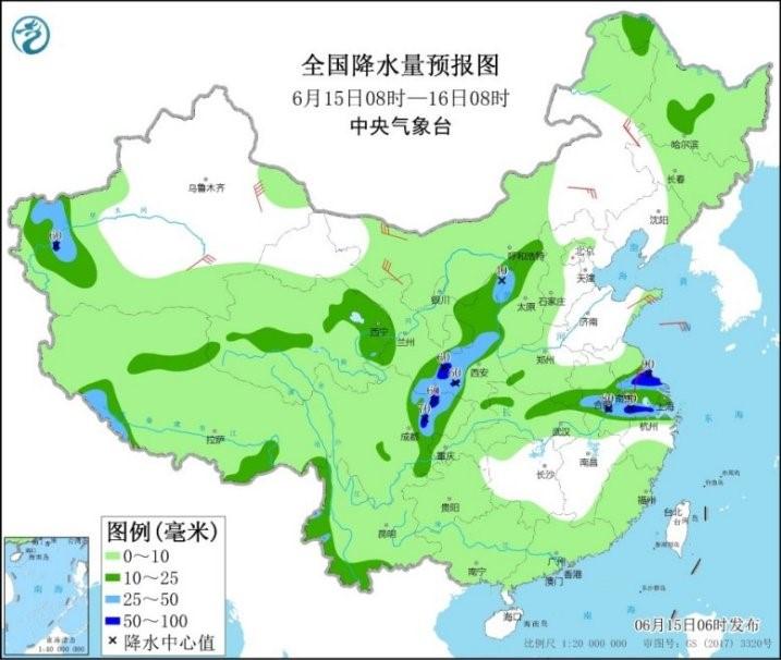 中东部再迎新一轮较强降雨过程 江南大部将出现高温天气