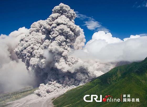 [组图]壮丽地球:西印度群岛苏佛里耶火山喷发
